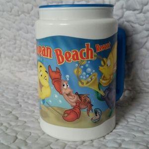 Vintage Disney Little Mermaid Ocean Beach Mug Cup